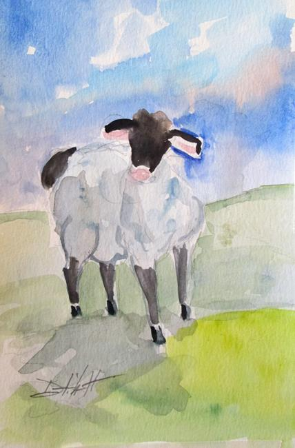 Art: Black Tail Sheep by Artist Delilah Smith
