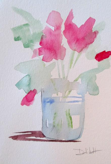 Art: Floral Still Life Pink Flowers by Artist Delilah Smith