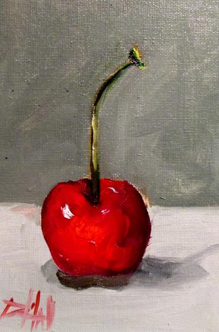Art: Cherry Still Life by Artist Delilah Smith