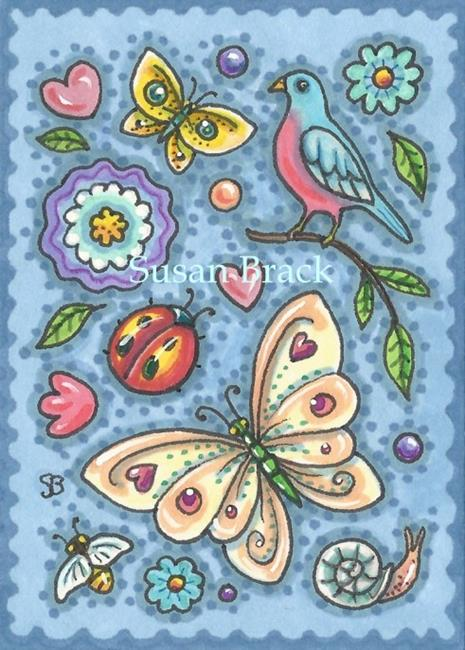 Art: BREATH OF SPRING Folk Art by Artist Susan Brack