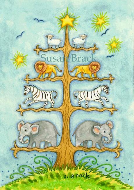 Art: NOAH'S TREE OF LIFE by Artist Susan Brack