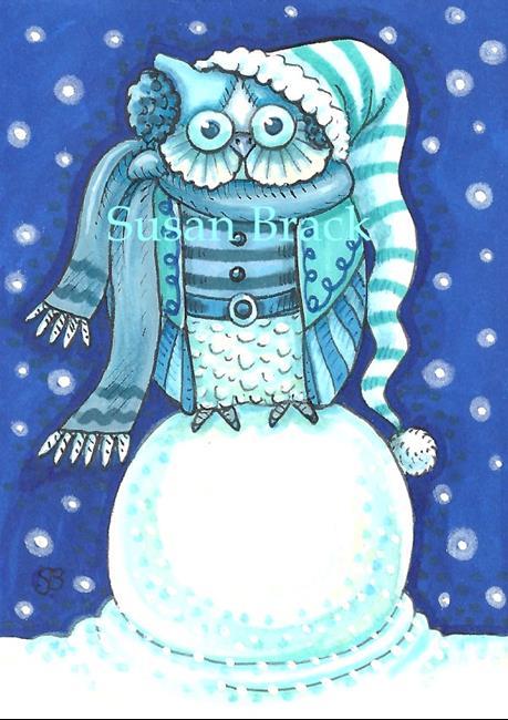 Art: SNOW OWL #2 by Artist Susan Brack