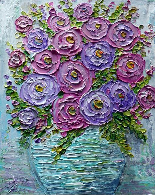 Art: Ranunculus Flowers by Artist LUIZA VIZOLI