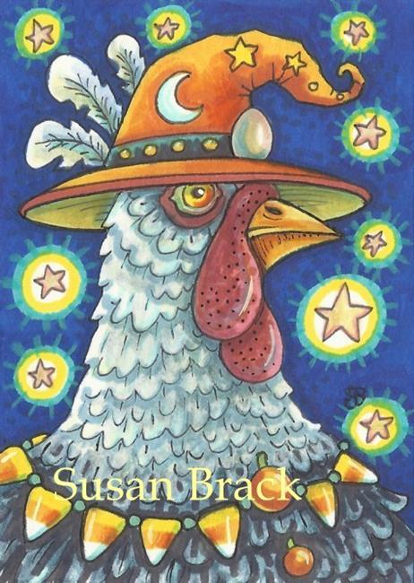 Art: HOCUS POCUS Chicken by Artist Susan Brack