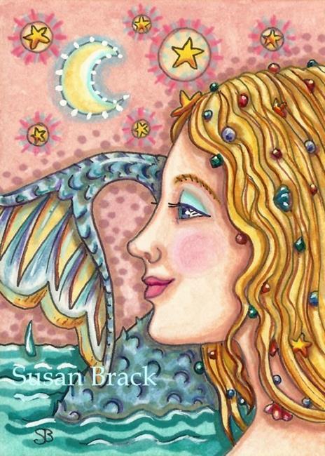 Art: JEWELS OF THE SEA Mermaid by Artist Susan Brack