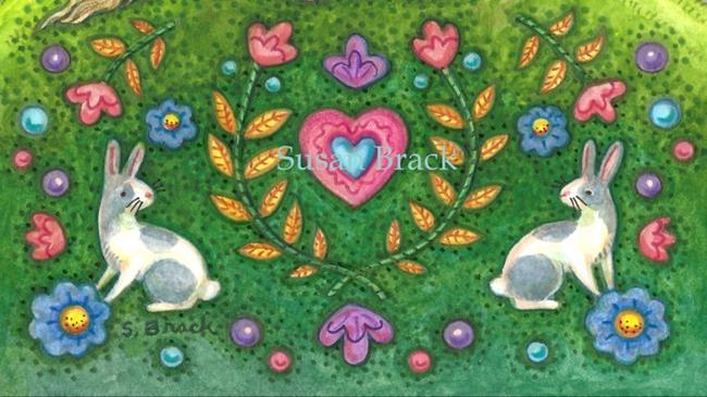 Art: UNICORN IN THE LAND OF EDEN Cropped by Artist Susan Brack