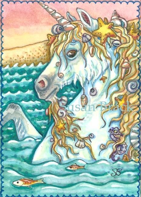 Art: SEASHELLS BY THE SEASHORE by Artist Susan Brack
