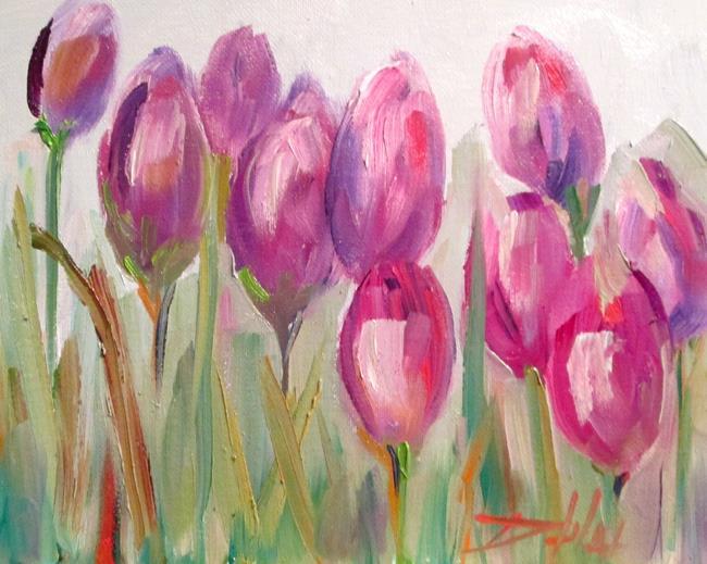 Art: Spring Tulips by Artist Delilah Smith