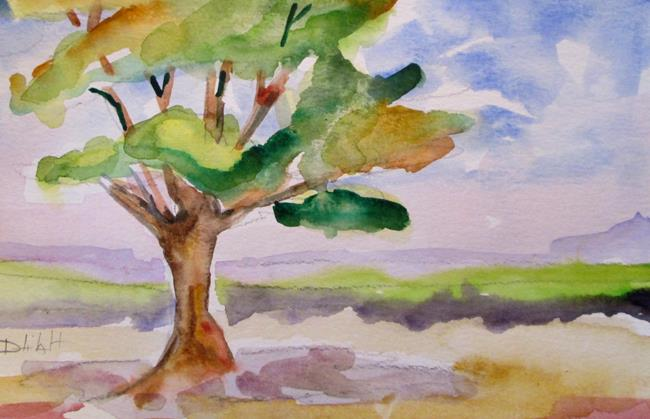 Art: Landscape Tree by Artist Delilah Smith
