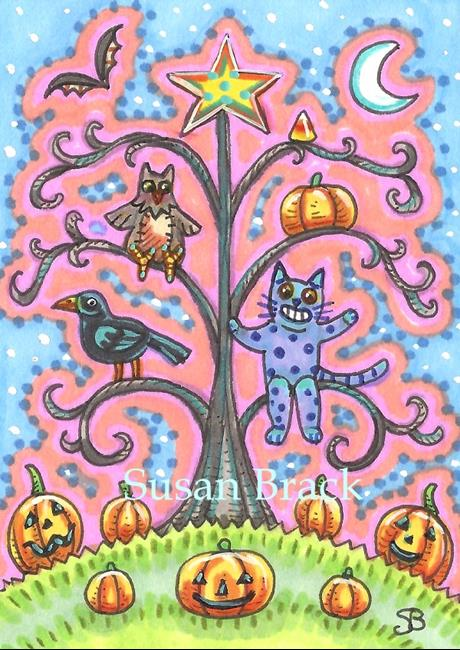 Art: HALLOWEEN PINK by Artist Susan Brack