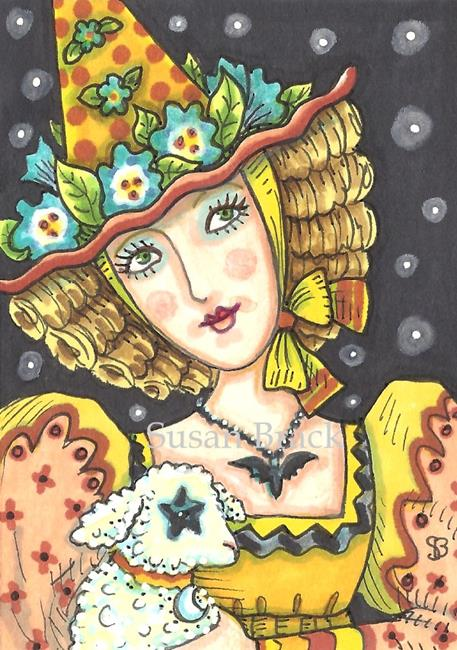 Art: HALLOWS EVE MOTHER GOOSE by Artist Susan Brack