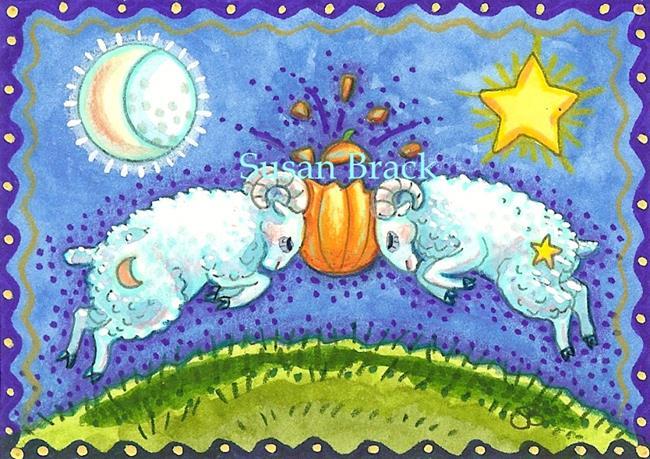Art: SMASHING PUMPKINS by Artist Susan Brack