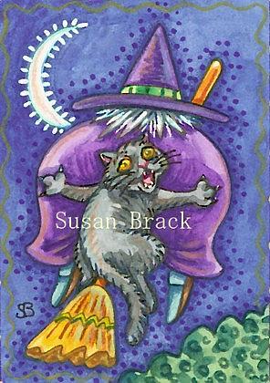 Art: WITCH'S WIDE LOAD by Artist Susan Brack