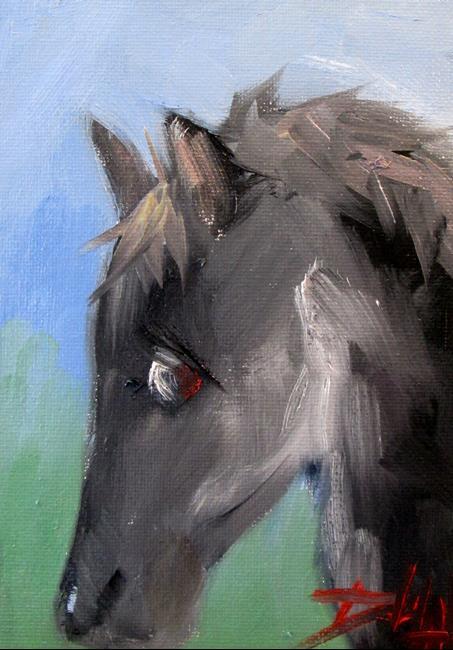 Art: Black Horse by Artist Delilah Smith