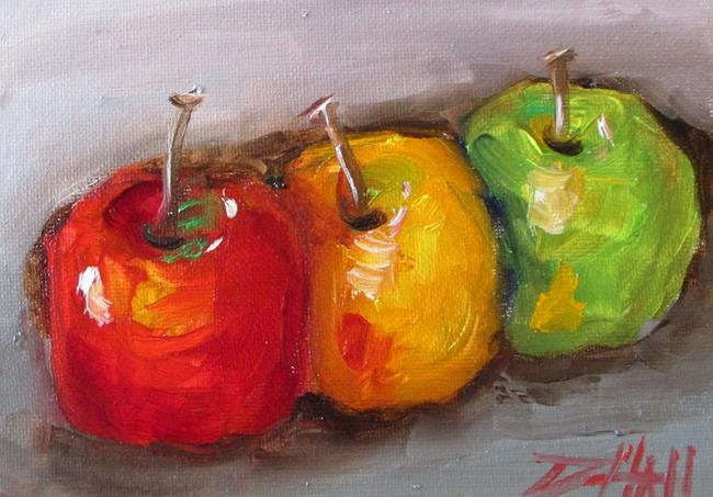 Art: Row of Apples by Artist Delilah Smith