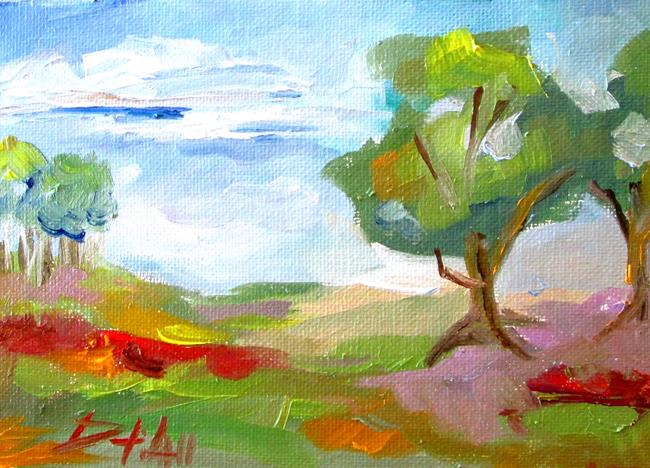 Art: Landscape with Flowers by Artist Delilah Smith
