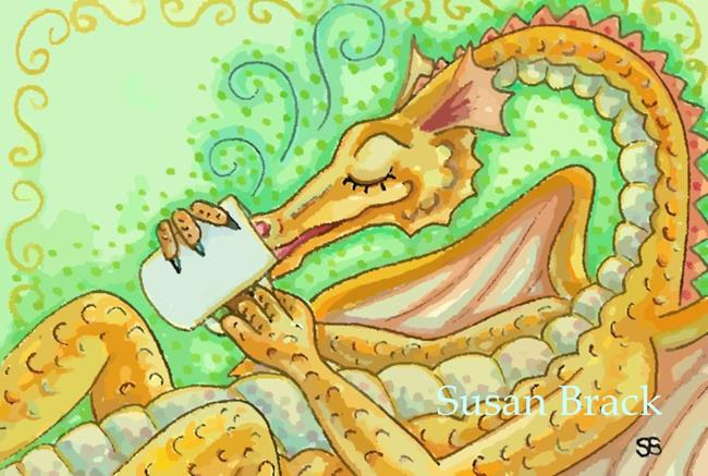 Art: DRAGON BREW by Artist Susan Brack