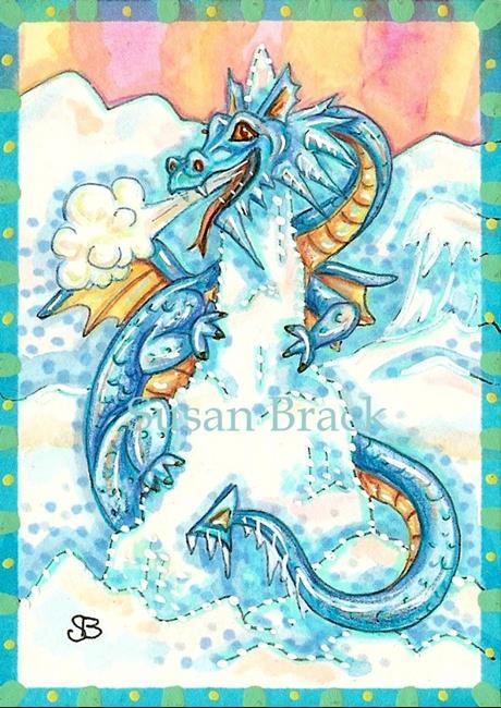 Art: BLUE ICE DRAGON by Artist Susan Brack