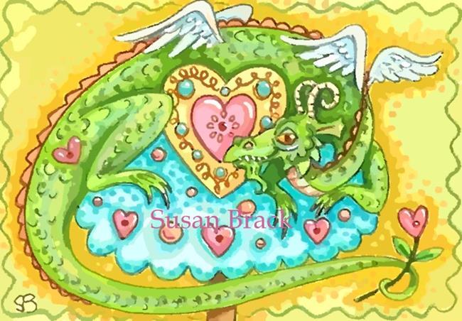 Art: DRAGON IN LOVE by Artist Susan Brack
