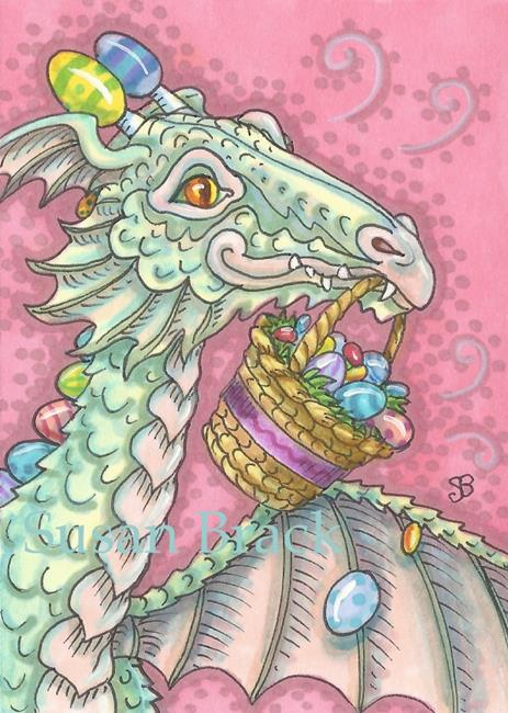 Art: EASTER DRAGON EGG DROP by Artist Susan Brack