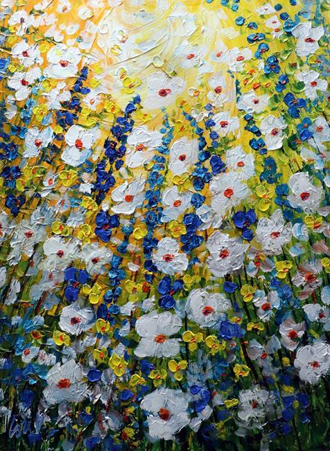 Art: MEADOW FLOWERS by Artist LUIZA VIZOLI