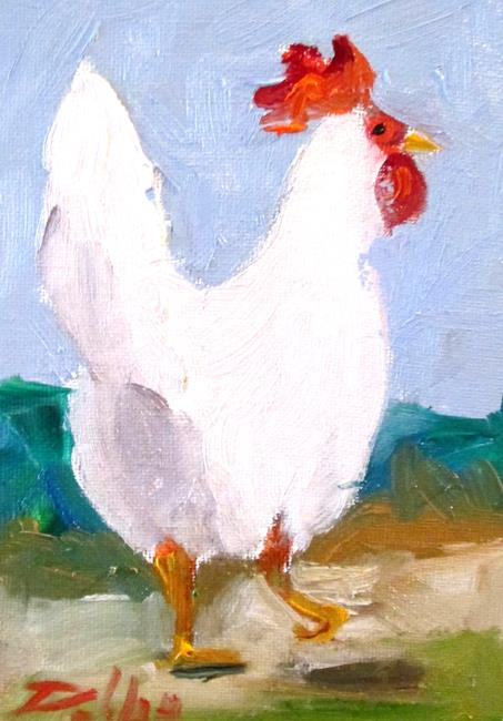Art: Leghorn Chicken by Artist Delilah Smith