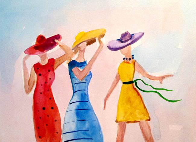 Art: Ladies in Hats by Artist Delilah Smith