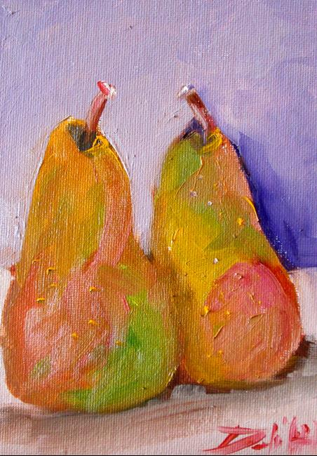 Art: Two Pears by Artist Delilah Smith