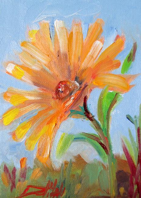 Art: Gerber Daisy by Artist Delilah Smith