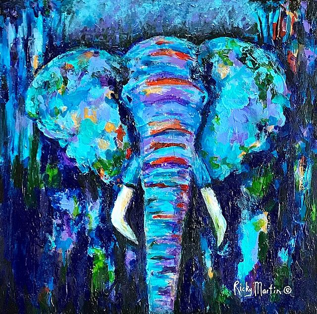Art: Abstract Elephant by Artist Ulrike 'Ricky' Martin