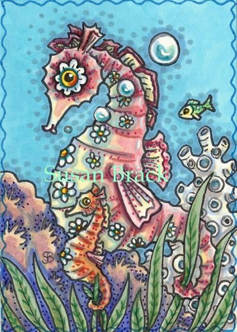 Art: AMONG THE KELP by Artist Susan Brack