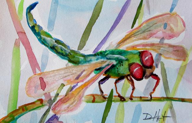 Art: Dragonfly No.18 by Artist Delilah Smith