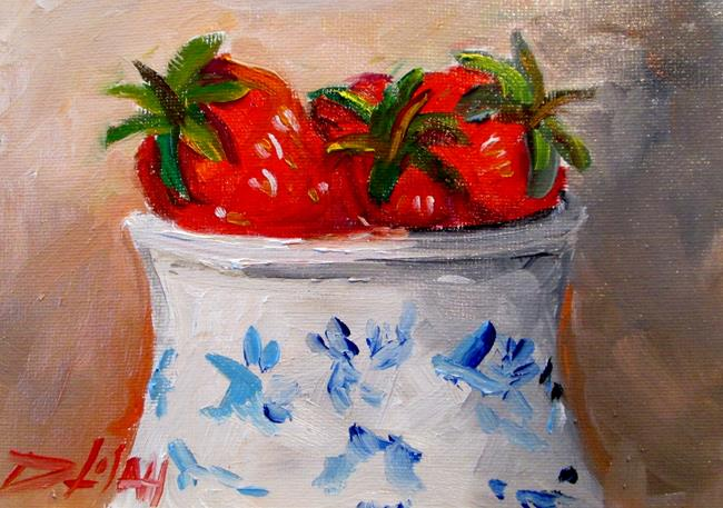 Art: Bowl of Strawberries No. 2 by Artist Delilah Smith
