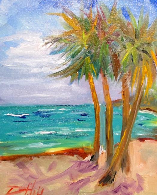 Art: Palms by the Shore by Artist Delilah Smith