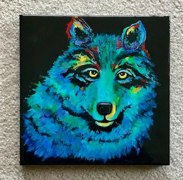 Art: Blue Wolf by Artist Ulrike 'Ricky' Martin
