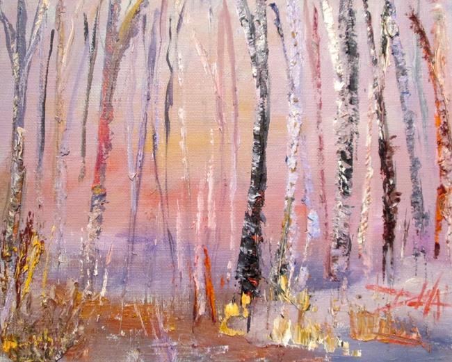 Art: Winter Trees by Artist Delilah Smith