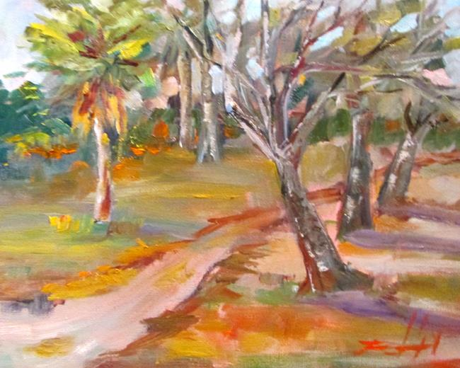 Art: Path in the Park by Artist Delilah Smith