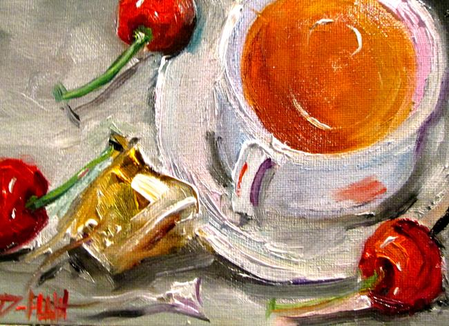 Art: Tea and Cherries-sold by Artist Delilah Smith