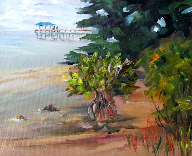 Art: View of the Pier by Artist Delilah Smith