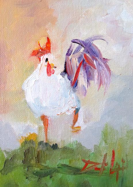 Art: Rooster No. 61 by Artist Delilah Smith