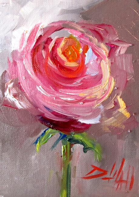Art: Pink Rose No. 10 by Artist Delilah Smith