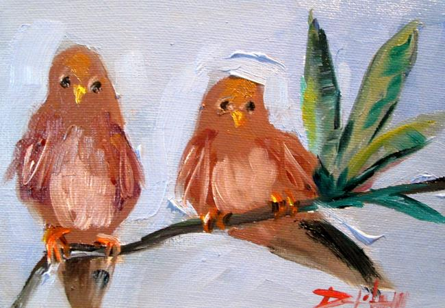 Art: Two Birds on a Limb by Artist Delilah Smith