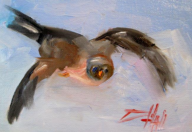 Art: Flying Bird No. 3 by Artist Delilah Smith