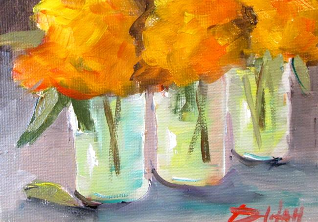 Art: Row of Flowers by Artist Delilah Smith