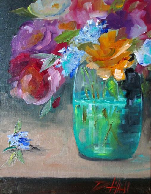 Art: Vase of Mixed Flowers by Artist Delilah Smith
