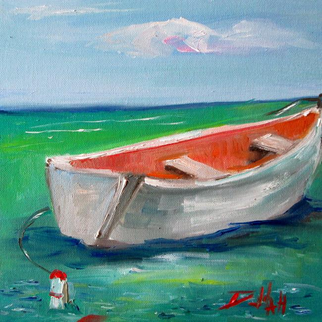 Art: Row Boat No. 9 by Artist Delilah Smith