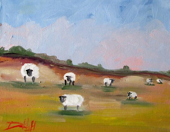 Art: Pasture Sheep No. 3 by Artist Delilah Smith