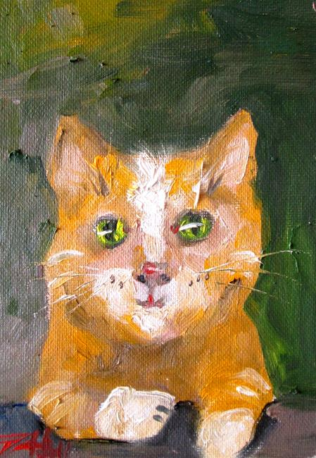 Art: Yellow Cat No. 4 by Artist Delilah Smith