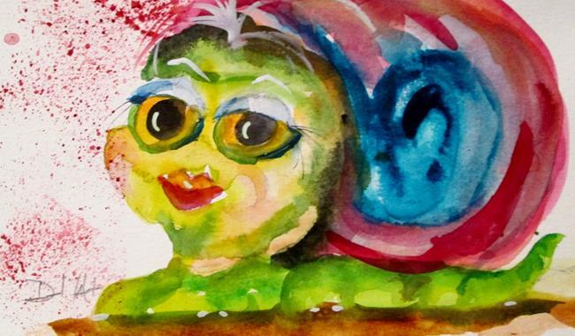 Art: Sweet Snail by Artist Delilah Smith