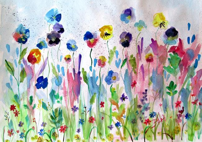 Art: Flower Garden by Artist Delilah Smith